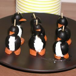 ... on a plate that looks like ice...Cream Cheese Penguins Allrecipes.com