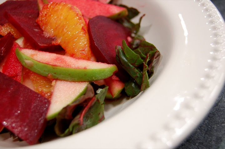 Tangy Apple And Beet Salad Recipe — Dishmaps