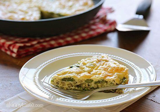 Asparagus and Swiss Cheese frittata - only 4p+ per serving.