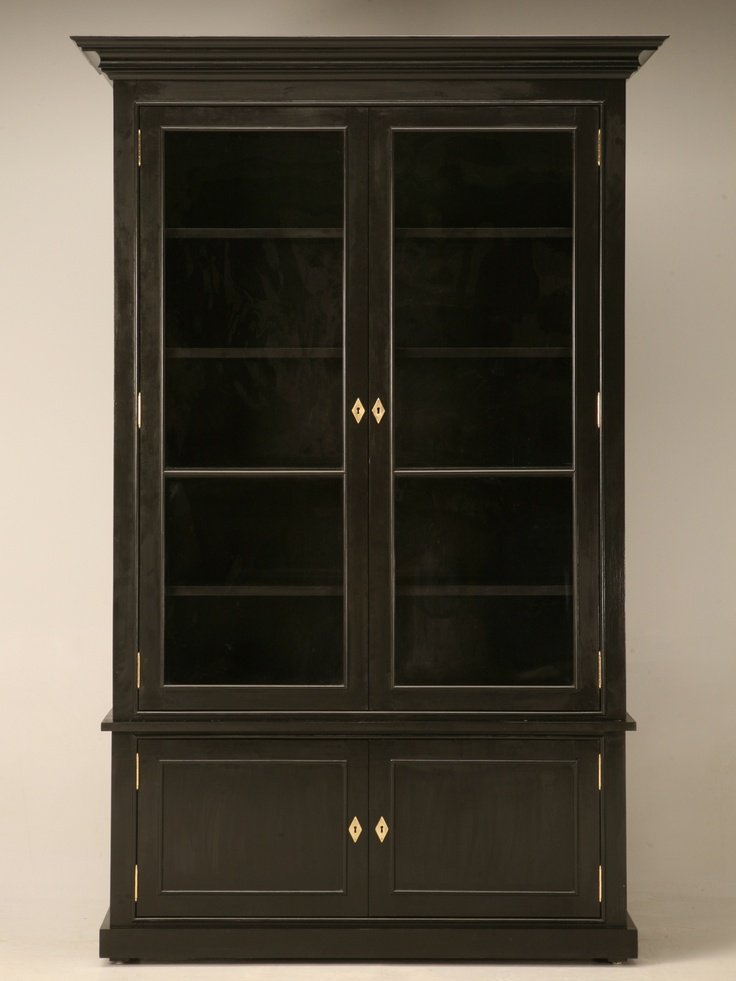 Handcrafted Bookcase With Glass Doors Custom Made At The