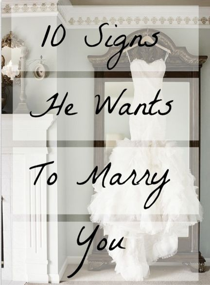 signs wants marry