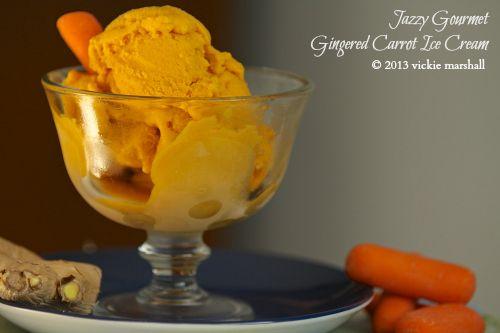 Gingered Carrot Ice Cream