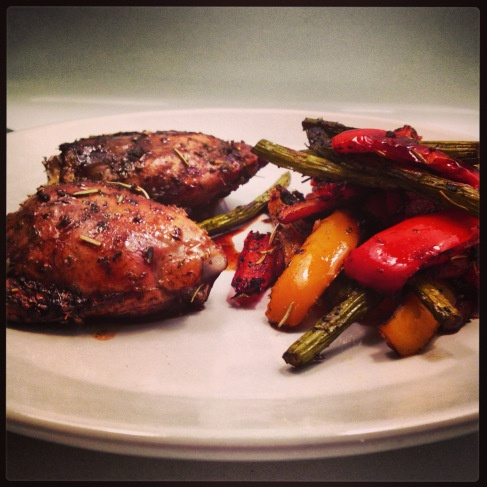 Balsamic Chicken With Roasted Vegetables Recipe — Dishmaps