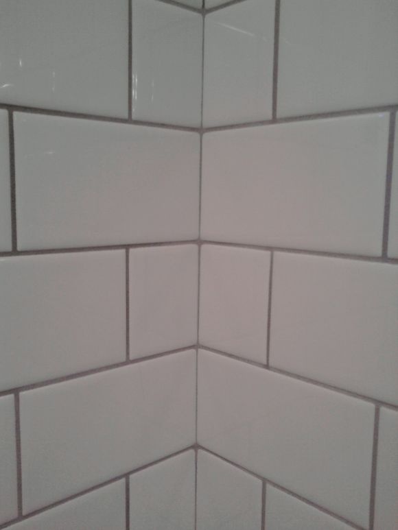 White Subway Tile With Light Grey Grout Bathroom Pinterest