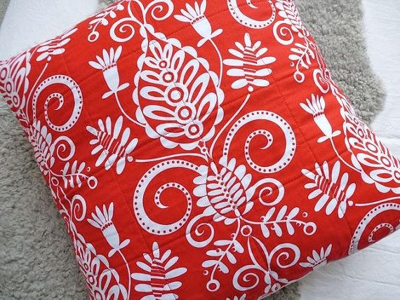 Scandinavian Christmas Pillow red and white Pinterest