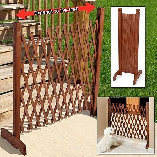 Fence Gate Wood Pet Puppy Dog Safety Indoor Outdoor
