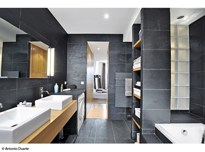 Salle de bain en ardoise Maison et Deco #ardoise #salledebain # ...