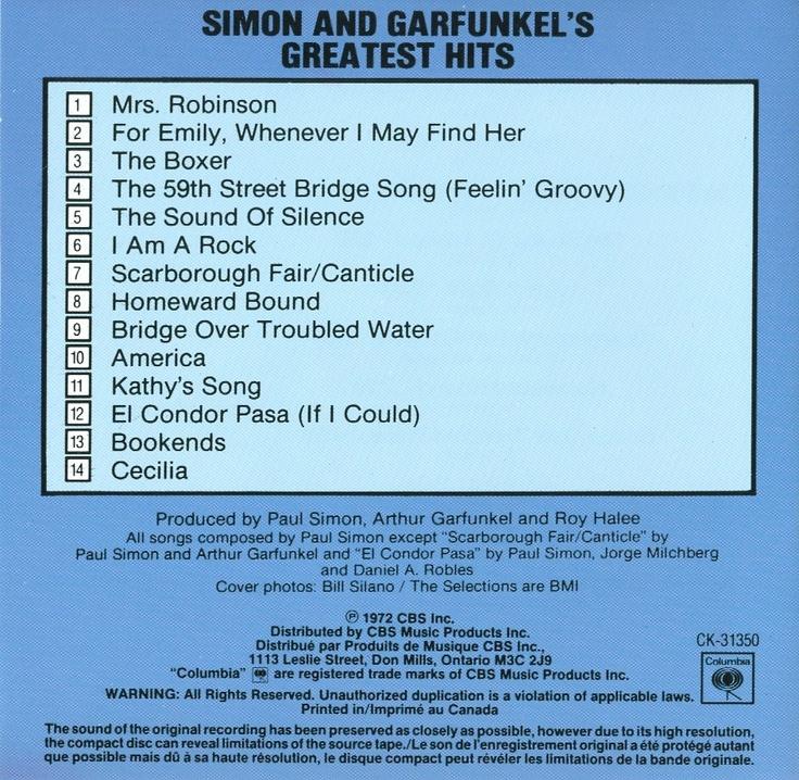 Simon & Garfunkel - The CBS Collection