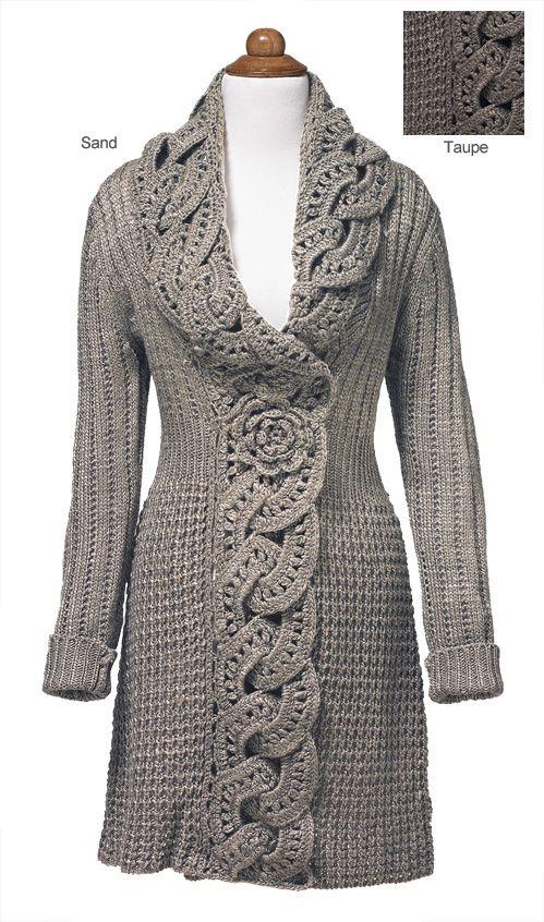 Crochet Flower Jacket Pattern : - Crochet Flower Coat Crochet ideas Pinterest
