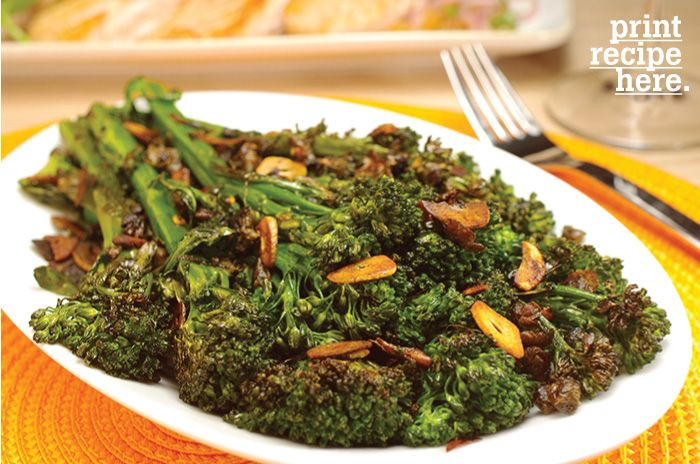 Charred Broccolini with Garlic-Caper Sauce