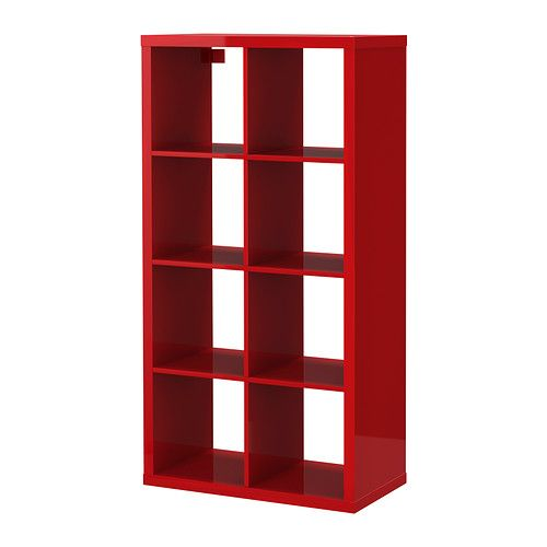 KALLAX Shelving unit - high gloss red - IKEA