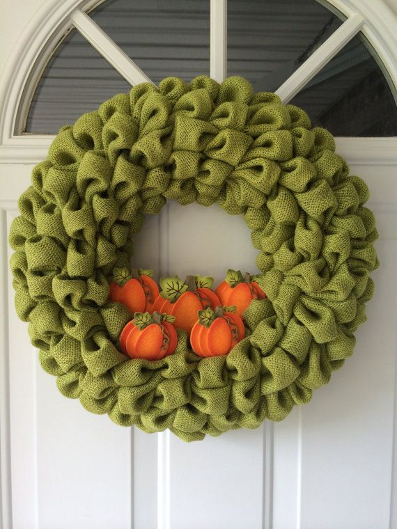Fall Burlap Wreaths Fall Wreaths Halloween by NaturesDoorway, $40.00