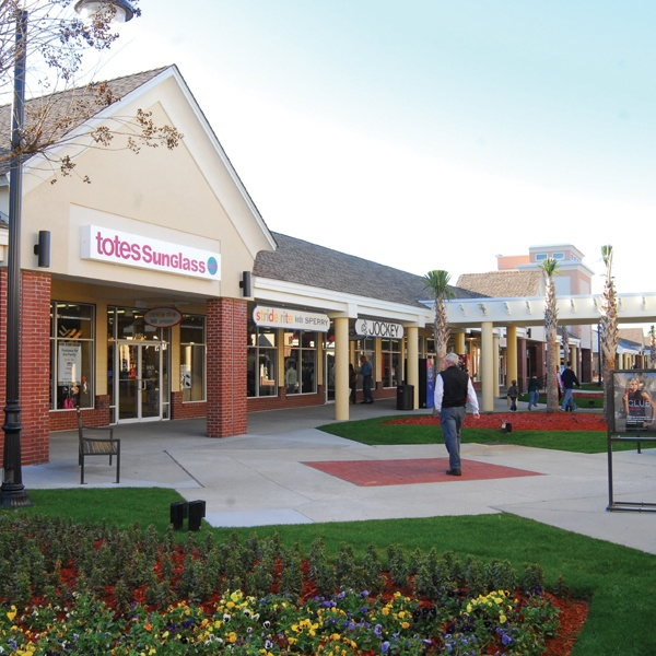 Tanger Factory Outlets. With two locations in Myrtle Beach, Tanger Factory Outlets offer a multitude of brand name stores such as Under Armour, the Disney Store, Adidas, Nike, American Eagle, Fossil, Puma, Reebok, Tommy Hilfiger, Polo Ralph Lauren, Nautica, .