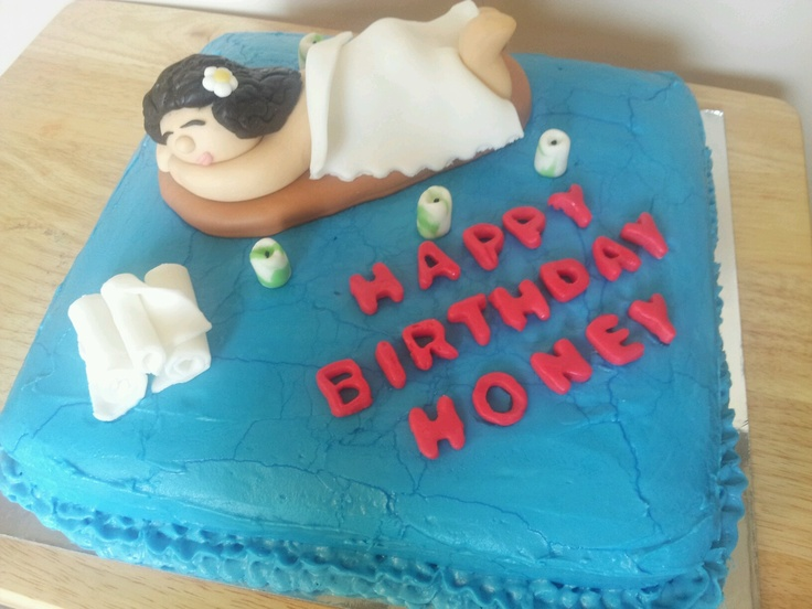 Birthday Cake Images And Massage : a birthday cake for a massage therapist Jessi s Goodies ...