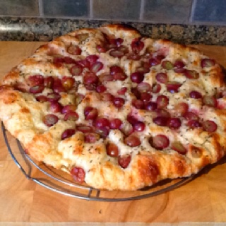 Jim Lahey's pizza bianca modified...sweet raisin and grape pizza