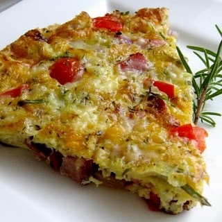 Cheddar And Vegetable Frittata Recipe — Dishmaps