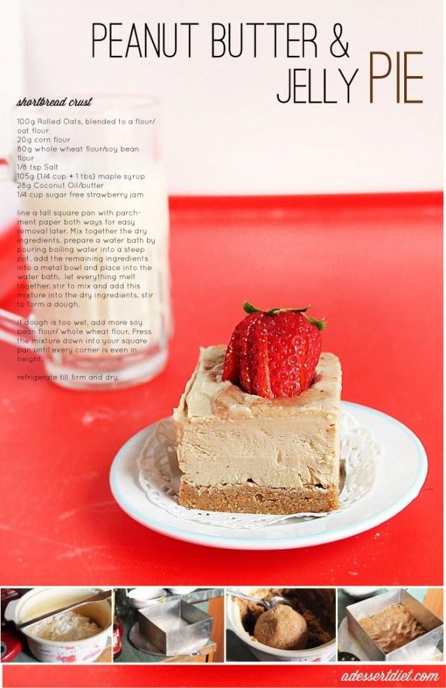 pb & jelly pie: vegan, GF, no bake, whole grain, yadda yadda yadda. IT ...