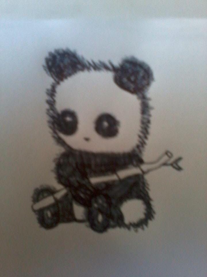 Cute panda baby drawing - photo#21