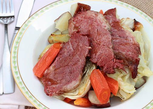Corned Beef Glazed In Honey And Mustard Dinner With ...