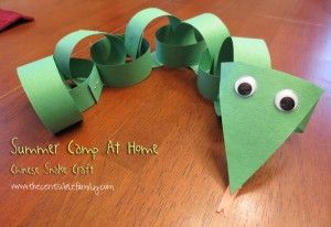 Chinese Snake Craft {Summer camp At Home}