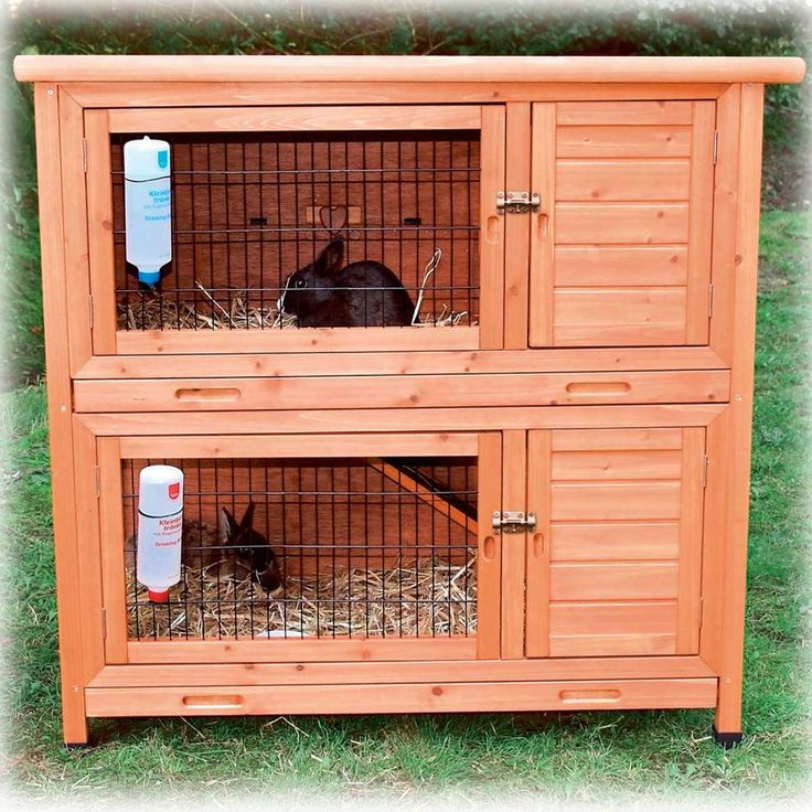 Trixie natura two story rabbit hutch my pet dreamboard for What is a rabbit hutch