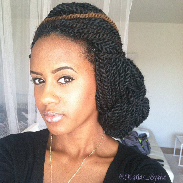natural hairstyles with perm rods : Marley Twists Braids & Natural Hair Pinterest