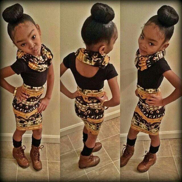 Little Black Girl Braided Hairstyle  Cute Braided
