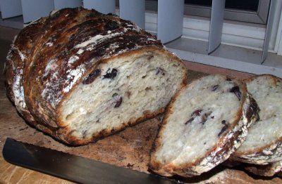 No-knead kalamata olive bread | Bread ~ No Knead | Pinterest