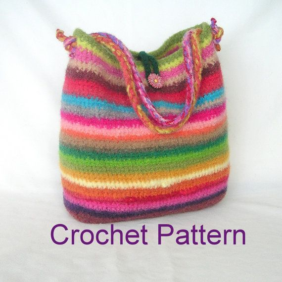 Felted Crochet : Crochet Felted Purse knitting, crochet Pinterest