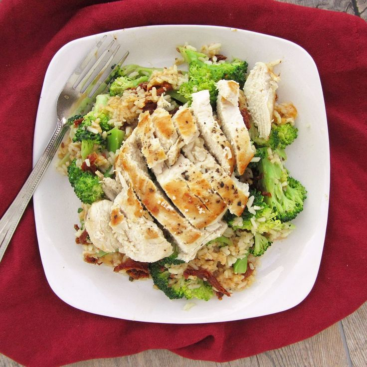 Chicken and Cheesy Rice with Broccoli & Sundried Tomatoes
