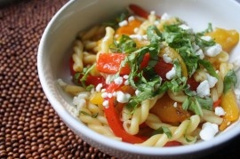 Spicy Pasta Salad with Smoked Gouda, Tomatoes, and Basil | Recipe