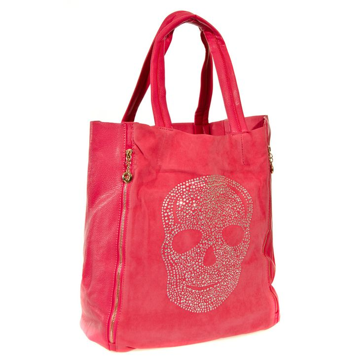 Blue Banana Skull Shopper Bag (Plum)
