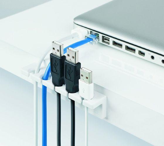 Desk cable organizer 10 hogar dulce hogar pinterest - Desk cord organizer ...