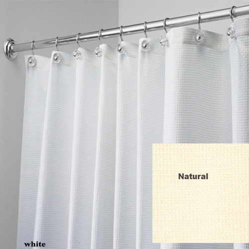 Wrap Around Curtain Rods Brown Fabric Shower Curtains