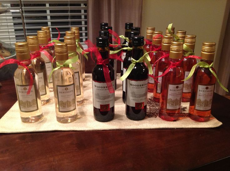 Mini Wine Bottles Christmas Party Favors By Amy Roberts