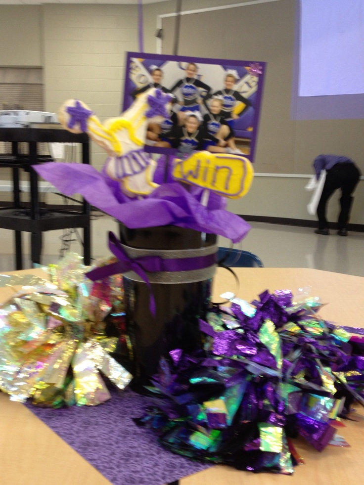 Cheer banquet centerpieces football ideas