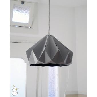 Suspension origami chestnut grise for Suspension grise chambre