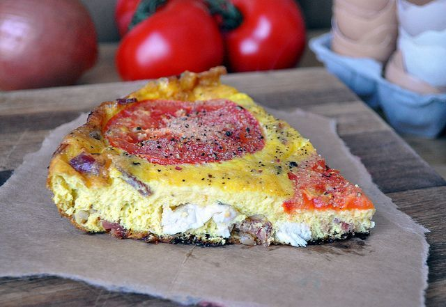 Chicken Bacon Ranch Frittata #TheFreckledFoodie