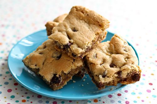 Chocolate Cherry Blondies (use white chips instead)
