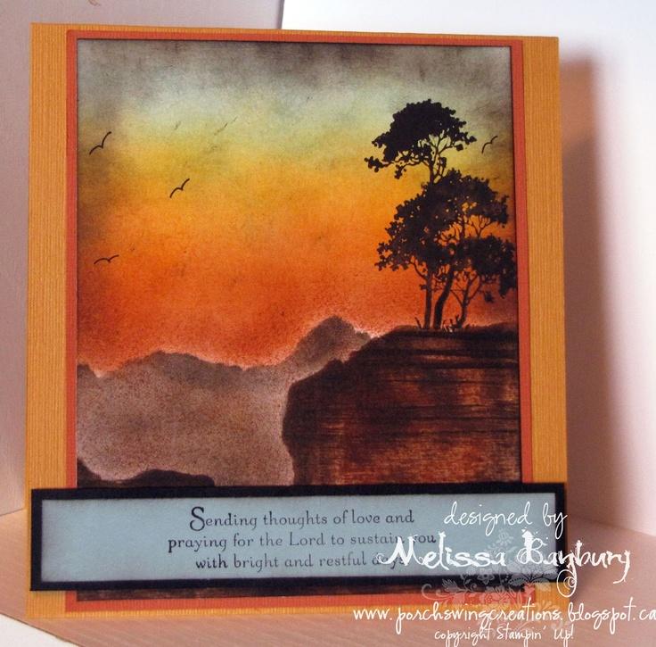 Porch Swing Creations: Solitude  (I sooooo LOVE Melissa's scene cards)
