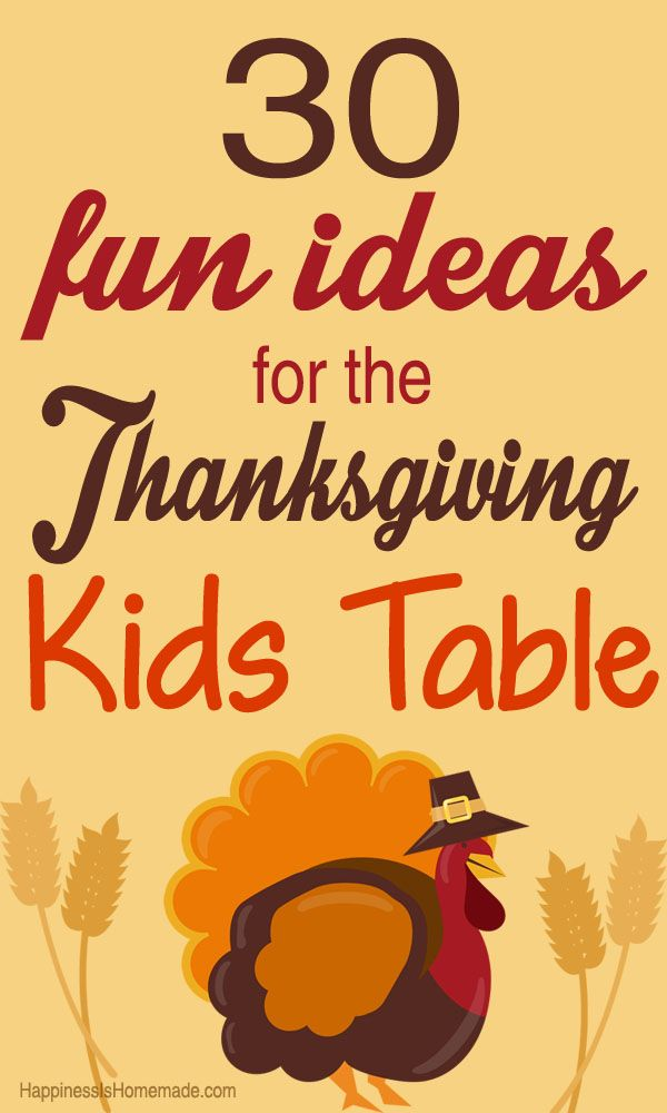 ... place: 30 Fun Thanksgiving Kids Table Ideas - Happiness is Homemade