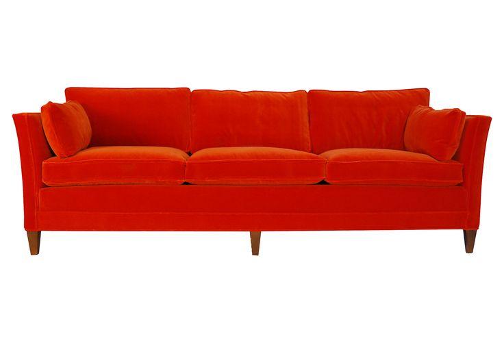 Orange Velvet amp Down Sofa : 6036ed16b051414a494c6585329460a9 from pinterest.com size 736 x 501 jpeg 19kB