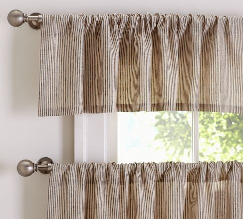 Mini Stripe Cafe Curtain Pottery Barn For The Home Pinterest