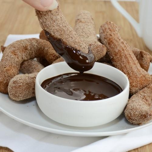Churros With Chocolate-Dulce De Leche Dip Recipes — Dishmaps