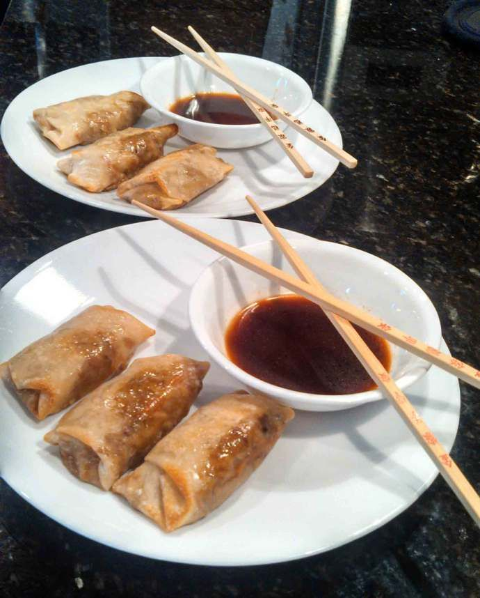 Meatless Monday ~ Baked Vegetable Egg Rolls and Dipping Sauce | The ...