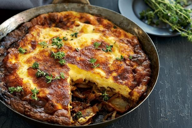 ... potato and caramelised onion frittata makes for a delicious dinner