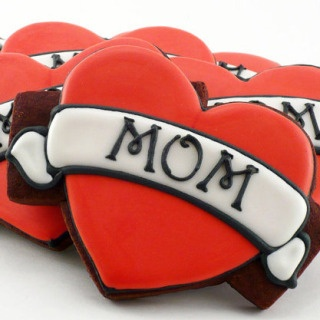 Mom tattoo cookies! Just in time for Mother's Day