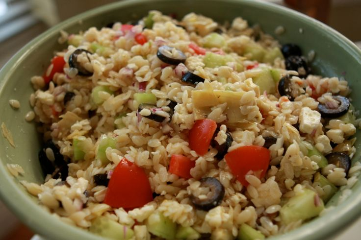 ... salad corn and zucchini orzo salad celery and olive orzo salad orzo