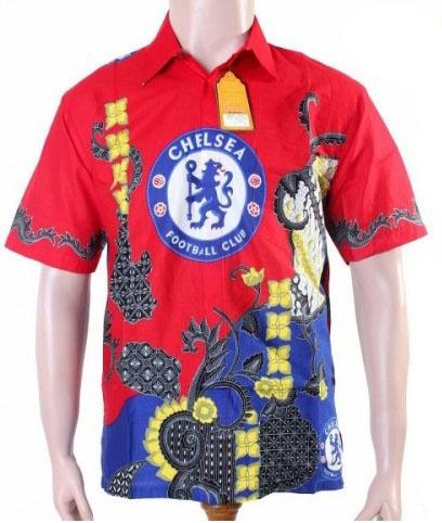Kemeja Batik Bola Chelsea BBC3593   Baju Batik   Pinterest