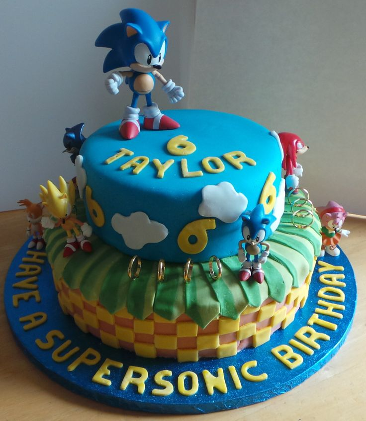 Sonic The Hedgehog Cake Recipes To Cook Pinterest